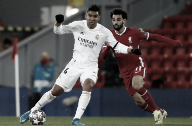 Casemiro durante el Liverpool - Real Madrid | Fuente: Real Madrid