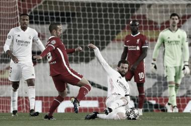 Nacho cuajó una actuación sobresaliente ante el Liverpool | Fuente: Real Madrid