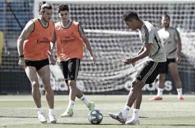 Último entrenamiento antes de medirse al Espanyol