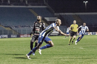 Atacante ex-Santos fez sétimo jogo pelo time catarinense e ainda não perdeu nenhum (Foto: André Palma Ribeiro/Avaí FC)