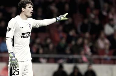 Werner, en un encuentro con el Atlético de Madrid. Imagen | Club Atlético de Madrid