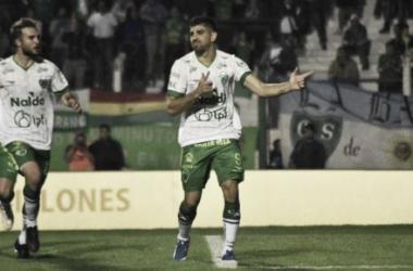 Díaz en su fesejo de gol. Foto: Diario Junin.