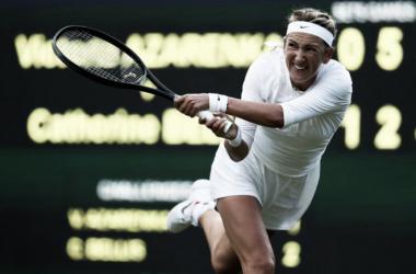 Victoria Azarenka durante la pasada edición de Wimbledon. Foto: zimbio.com