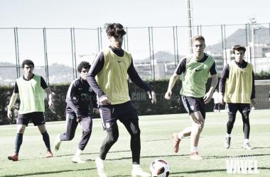 Imagen de archivo de los jugadores del Barça B en un entrenamiento. FOTO: Noelia Déniz