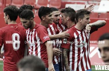 El Sporting B, un curso de sobresaliente // Foto: Diego Blanco (VAVEL)