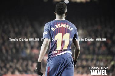 Ousmane Dembélé en un partido de la pasada temporada | Foto de Noelia Déniz, VAVEL