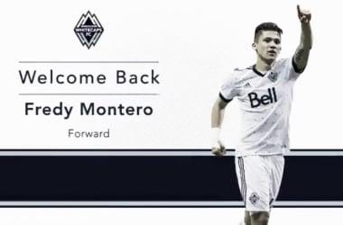Freddy Montero vuelve a Whitecaps FC