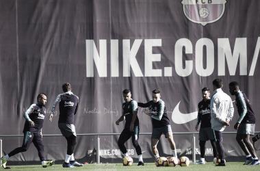 Entrenamiento del primer equipo en la Ciutat Esportiva Joan Gamper   Foto de Noelia Déniz, VAVEL