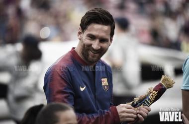 Leo Messi en un partido de la UEFA Champions League | Foto de Noelia Déniz, VAVEL