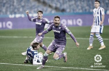 Gol de Joaquín (2-2) ante la Real Sociedad | Foto: LaLiga