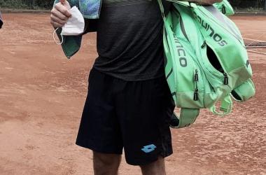 """<div style=""""text-align: left;"""">Su sonrisa habla por si sola en el Lawn Tennis Club en CABA. Foto: @ArgentinaOpen</div>"""