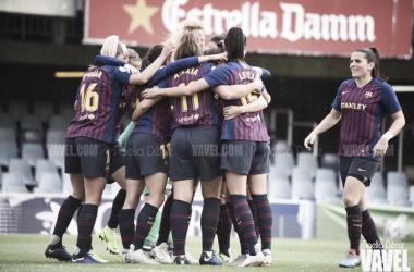 Celebración de un gol en la Liga Iberdrola | Foto de Noelia Déniz, VAVEL