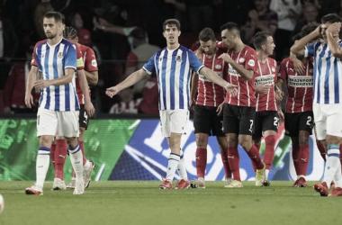 Imagen del anterior encuentro de la Europa League frente al PSV. Fuente: Real Sociedad