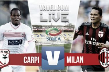 Score Carpi 0-0 AC Milan in Serie A 2015