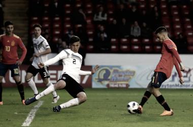 La Selección Española en su cruce contra Alemania (futboljuvenil.es)