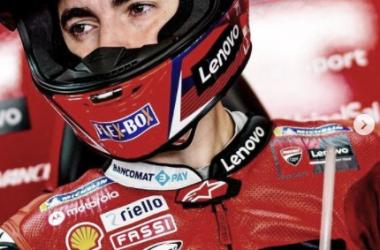 Francesco Bagnaia en el el FP1 de Portimao. Fuentes: redes sociales del piloto