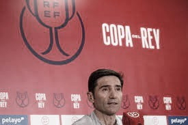 Marcelino en rueda de prensa | Foto: Athletic
