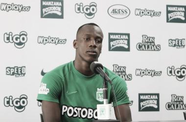 """Baldomero Perlaza: """"Ha sido importante el respaldo del cuerpo técnico y de mis compañeros"""""""