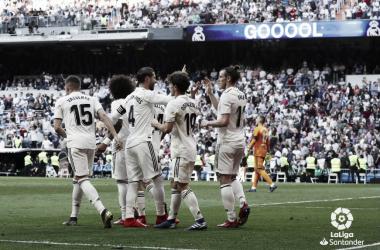 Bale celebra su gol ante el Celta. Foto: Liga Santander.