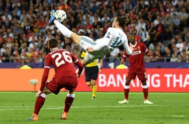 La rovesciata del 2-1 di Bale - Foto Champions League Twitter