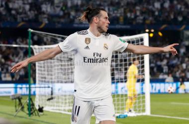 Celebración de Garteh Bale en el primer gol. Foto: Real Madrid C.F