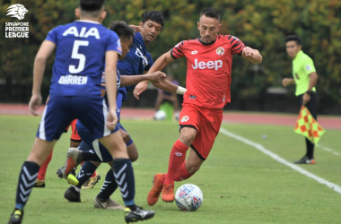 Kristijan Krajcek in action for Balestier (Photo credit: Football Association of SIngapore)