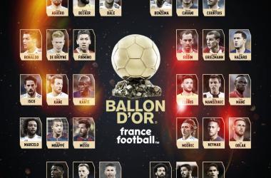 Los 30 nominados al Balón de Oro / Foto: France Football