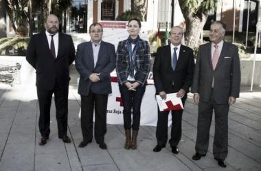 Pablo Comas durante el Día de la Banderita. Foto | Recreativo de Huelva.