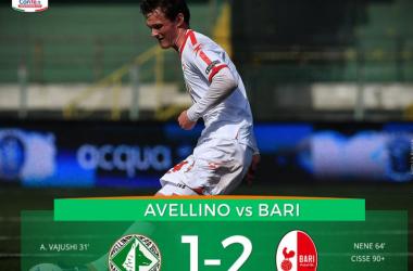 Serie B: l'Avellino sprofonda col Bari