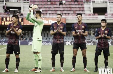Los jugadores del Barça B quieren volver a ganar. FOTO: Noelia Déniz