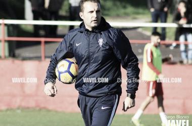 Rubén Baraja durante un entrenamiento   Fotografía: Diego Blanco