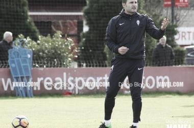 Rubén Baraja durante un entrenamiento. // Foto: Diego Blanco-VAVEL