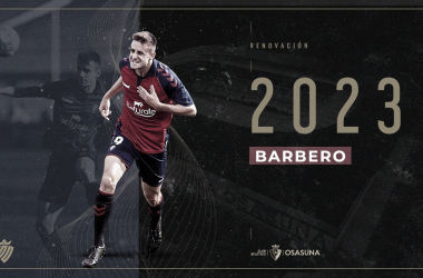 Barbero renueva hasta 2023 y se marcha cedido al A. D. Alcorcón