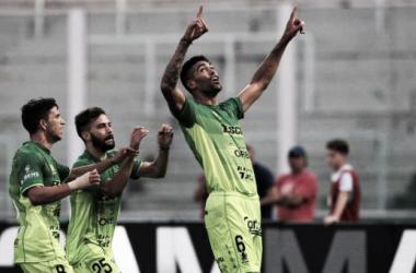 Festejo en el gol del Halcón   Foto: Diario Olé