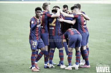 El Barça B, esta temporada. Foto: Noelia Déniz.