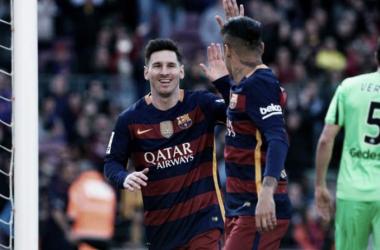 Messi e Neymar marcaram (Foto: goal.com)