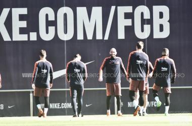 Imagen de archivo. Primera plantilla ejercitándose en la Ciudad Deportiva | Foto: Beto Fotógrafo, VAVEL