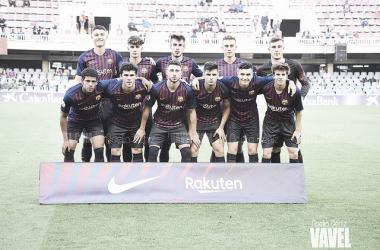 El FC Barcelona B en su último partido en el Mini / Foto: Noelia Déniz ( VAVEL)