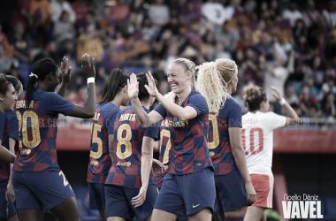 El Barcelona es líder en la Liga Iberdrola y está en octavos de final de la UEFA Women's Champions League // Noelia Déniz (VAVEL España)