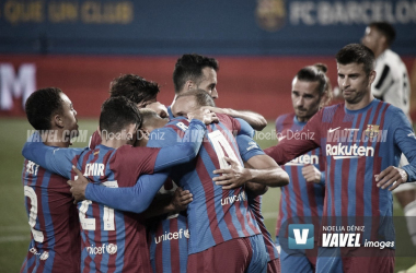 El Barça, unido, en la disputa del Gamper | Foto: Noelia Déniz - VAVEL