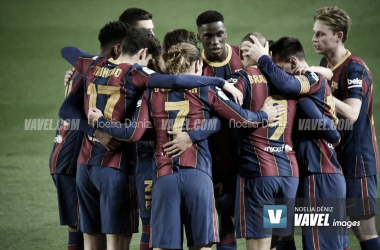 El Barcelona se une por hacerse con la Liga Santander | Foto: Noelia Déniz - VAVEL