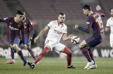 Un Sevilla que no supo defender el resultado se ve sobrepasado por un gran Barça (3-0)