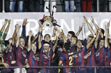 El equipo de Luis Enrique consiguió el doble triplete. (Foto: Squawka Football Twitter)
