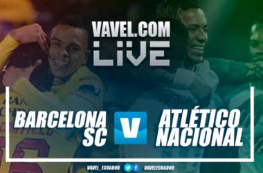 El partido entre Barcelona SC y Atlético Nacional se disputa en el Estadio Banco Pichincha (Guayaquil) desde las 19:45 Fuente: peru.com
