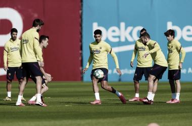 Barcelona volta aos treinamentos após mais de dois meses