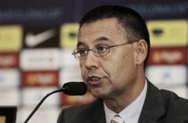 """Bartomeu: """"Estamos muy contentos por el Real Madrid"""""""