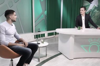 Marc Bartra en una entrevista anterior para RTV Betis. Foto: @MarcBartra.
