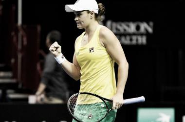 Número um australiana, Barty venceu três partidas no confronto (Foto: Divulgação/Fed Cup)