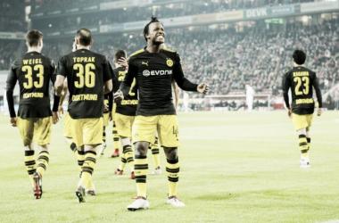 Batshuayi ha demostrado ser el sustituto ideal de Aubameyang en su primer partido / Foto: Borussia Dortmund