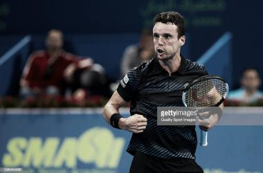 Bautista se llevó la victoria en los cuartos de final en Doha. Foto: Getty Images.